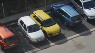 Epic parking fail in Czech Republic