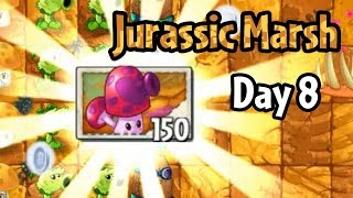 Plants vs Zombies 2 - Jurassic Marsh Day 8: Perfume-shroom