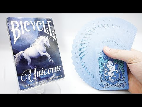 Bicycle Unicorns By Anne Stokes Playing Cards