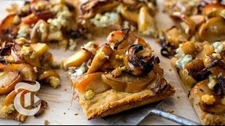 Making Roasted Apple and Blue Cheese Tarts for a Cocktail Party