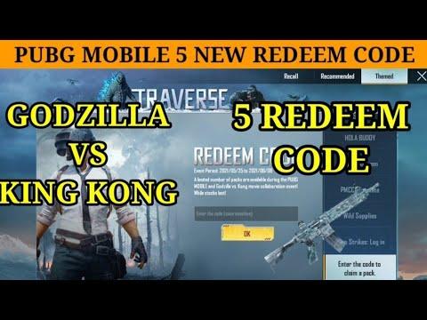 PUBG Mobile Redeem Codes May: Get Godzilla Vs Kong Exclusive Items [] 5 Reedem Codes 2021 #pubg