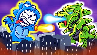 The Mecha Battle  MechaGodzilla vs MechaniKong Pencilanimation Short Animated Film