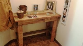 Recycled Pallet Coffee Table, Diy, Coat Hanger, Side Table, Small Bench