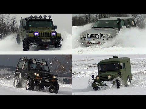 Jeep Wrangler Vs Toyota Land Cruiser Vs Nissan Patrol Vs Fiat Campagnola, Rajac Mountain, Part 1/2