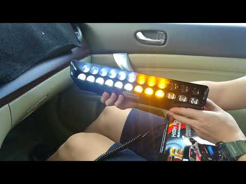 Flash Light  Police Warning Lamp Strobe Dash Emergency Interior Windshield