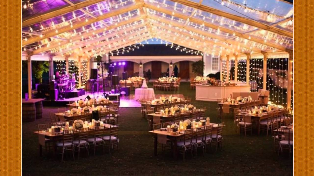 & Wedding Tents with Lights - YouTube