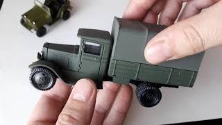 Автомобили Великой Отечественной. ГАЗ 67 САИС и ЗиС 5 ЛОМО. 1:43.