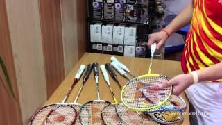 видео Теннис  Ракетки  yonex  / Mizuno Asics Mikasa в СПб