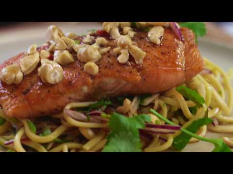 Asian Style Salmon Caramelised in Coconut Syrup