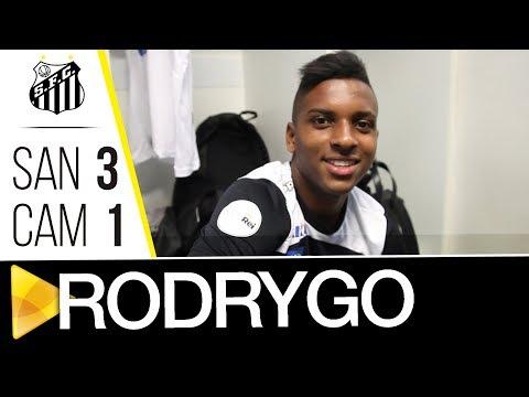 Rodrygo faz sua estreia pelo profissional do Santos FC