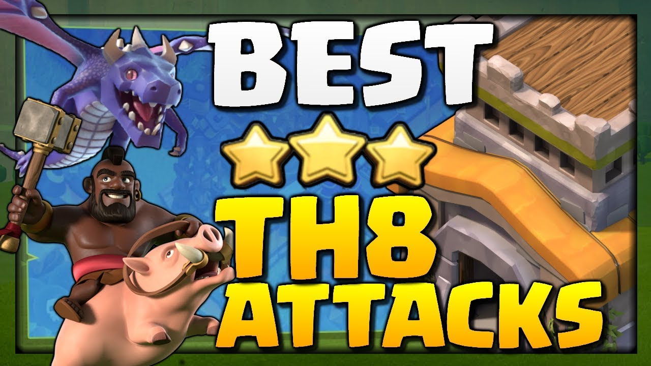 BEST TH8 Attack Strategies for 2018 in Clash of Clans!