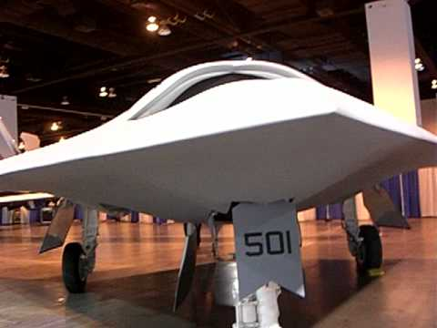 Stealth X-47B  Navy UCAS Unmanned Combat Air System carrier operation-able. AUVSI 2010  -7