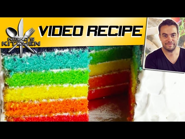 HOW TO MAKE RAINBOW CAKE Travel Video
