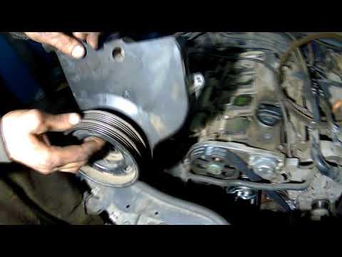 Volkswagen Passat B5 1.8 turbo замена ремня грм, метки, и как снять вентилятор вискомуфту.