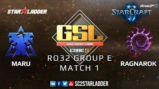 2019 GSL Season 1 Ro32 Group E Match1: Maru (T) vs Ragnarok (Z)