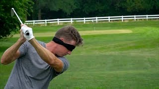 Playing Golf Blindfolded