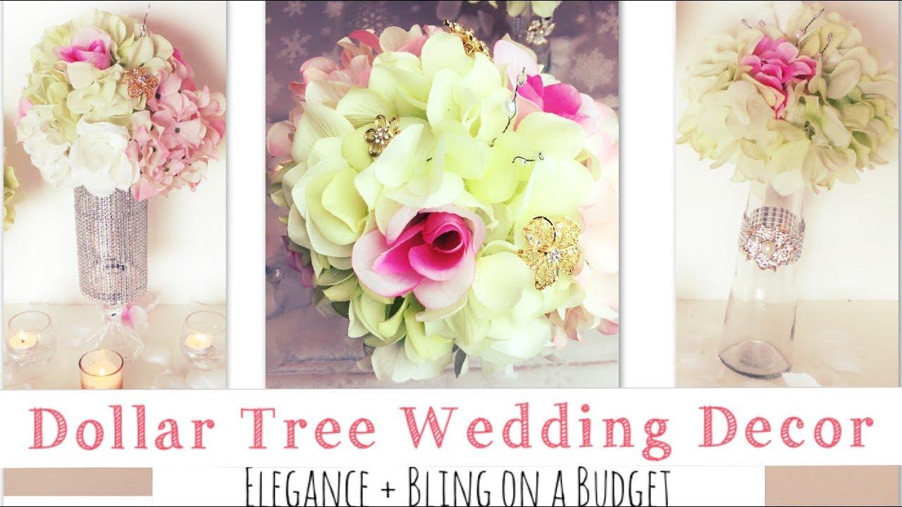DIY   Dollar Tree Wedding Bling Centerpiece Ideas - YouTube