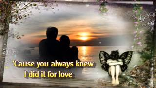 I Did It For Love with Lyrics by Jessica Anderson
