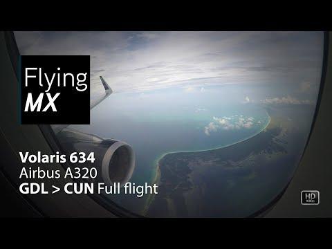 Volaris 634 | Airbus A320 | Guadalajara - Cancun | Full flight pax view