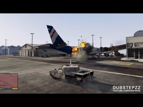 Download] GTA V 5 Airport Mayhem With The TANK