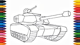 Drawing Tank How to Draw Tank Colours for Kids