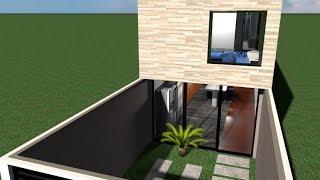 Casa 4 x 24 m Estilo minimalista / House 4 x 24 m  / Rumah 4 x 24 m
