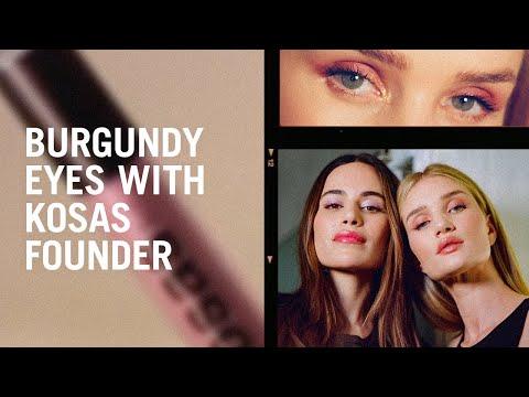 Burgundy Eye Tutorial With Kosas Founder Sheena Yaitanes And Rosie Huntington-Whiteley
