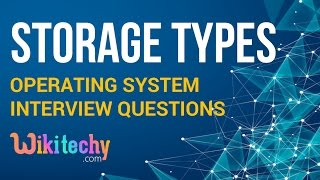 Difference Between Primary Storage and Secondary Storage   Operating System Interview Questions
