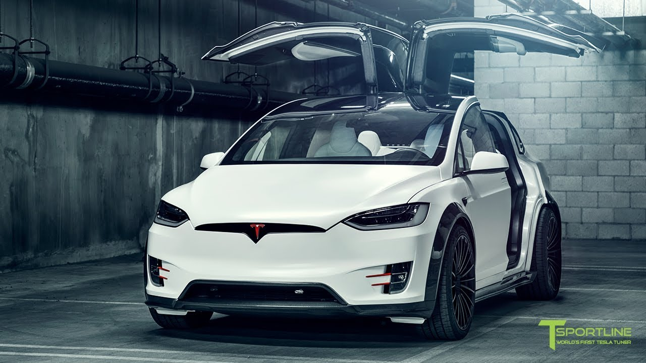 T Largo 4 Satin Pearl White Tesla Model X P100d Wide Body Package Youtube