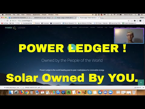 Cryptocurrency Altcoin - POWER LEDGER! - Decentralised Renewable Solar Energy