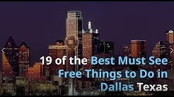 19 of the Best Free Things to do In Dallas Texas Video - #DallasTexas