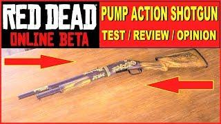 Red Dead Online BEST GUNS , best SHOTGUN , TEST , Pump Action Shotgun , best weapons