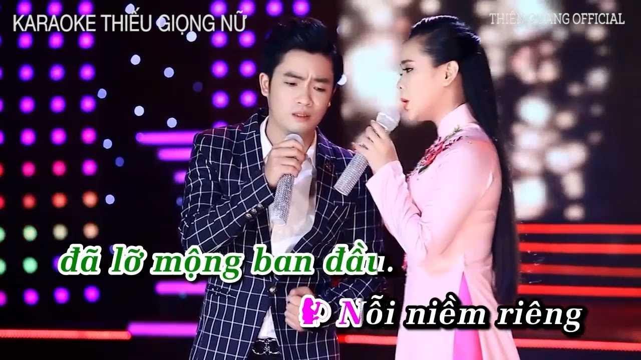 (Karaoke - Thiếu Giọng Nữ) Đừng Trả Cho Nhau - Thiên Quang ft Quỳnh Trang | Song Ca Cùng Thiên Quang