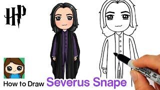 How to Draw Professor Severus Snape | Harry Potter