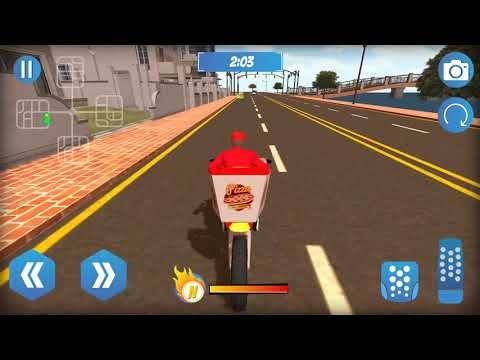 Big Pizza Delivery Boy Bike Racing Game - Highway Pizza Delivery