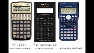 HP 17bII   Texas Instruments Hesap Makinesi Kullanımı