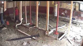 Time Lapse: July 17th, 09: Attaching new support columns and pouring the footings