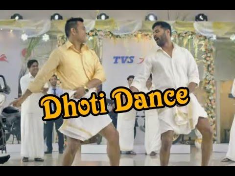 MS Dhoni Dhoti Dance with Prabhu Deva -...