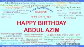 AbdulAzim   Languages Idiomas - Happy Birthday