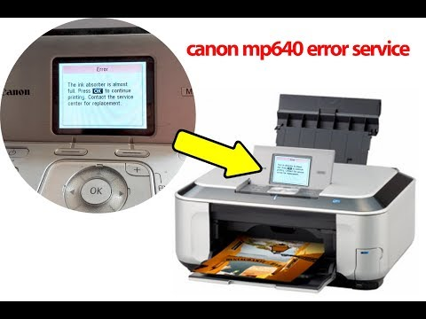 canon mp640 error