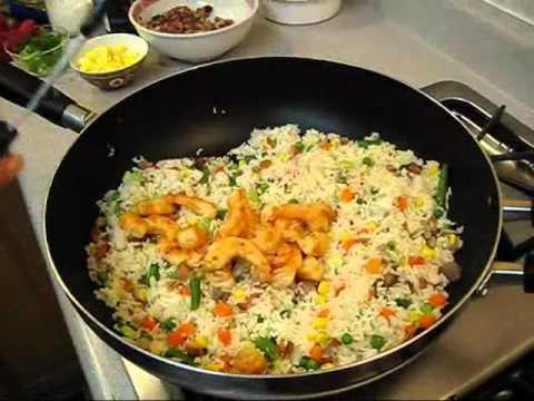 How to make combination fried rice with barbecue pork chicken how to make combination fried rice with barbecue pork chicken shrimp mixed vegetables ccuart Image collections