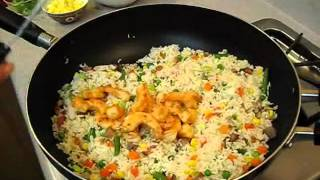 How To Make Combination Fried Rice - With Barbecue Pork, Chicken, Shrimp & Mixed Vegetables