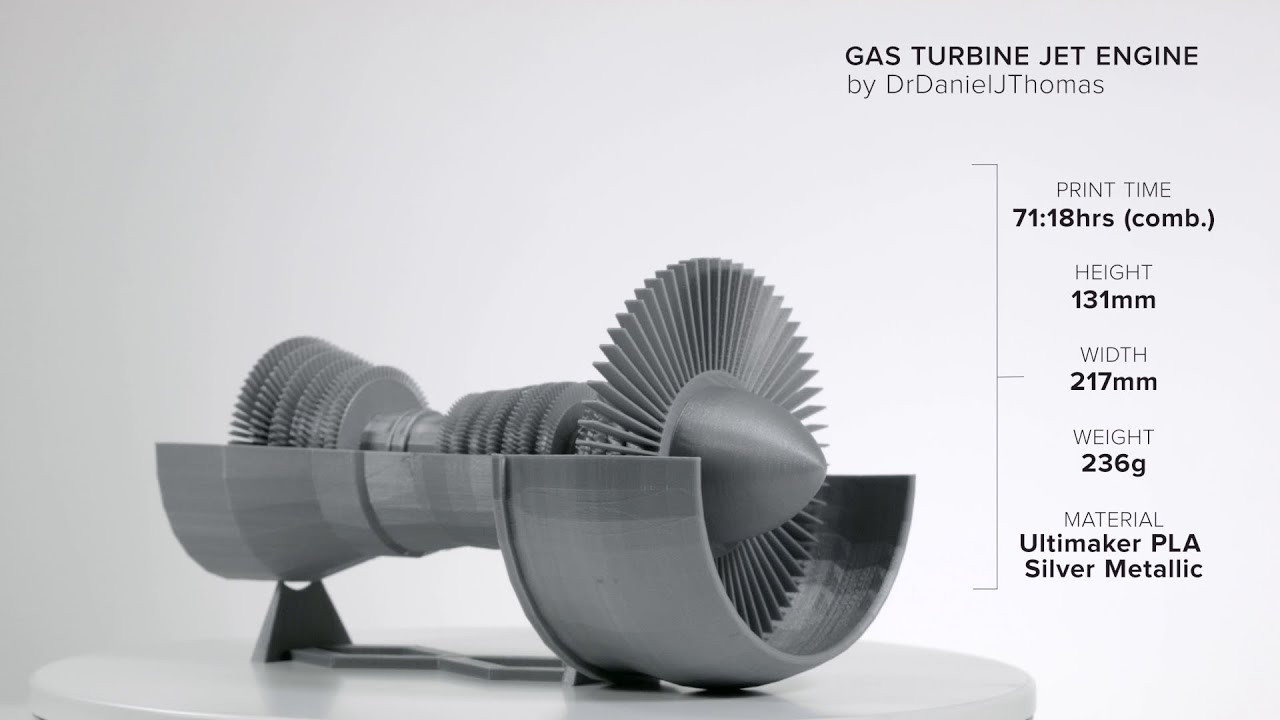 Jet Engine by DrDanielJThomas Ultimaker 3D Printing Timelapse