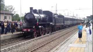 partenza treno a vapore