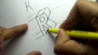 كيفية رسم الحرف R في 3D-إنشاء R في 3D في دقيقة واحدة