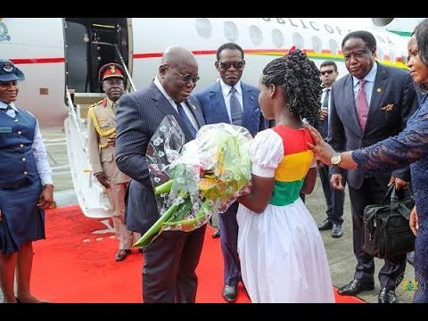 President Akufo-Addo in Equatorial Guinea for 3-day State visit