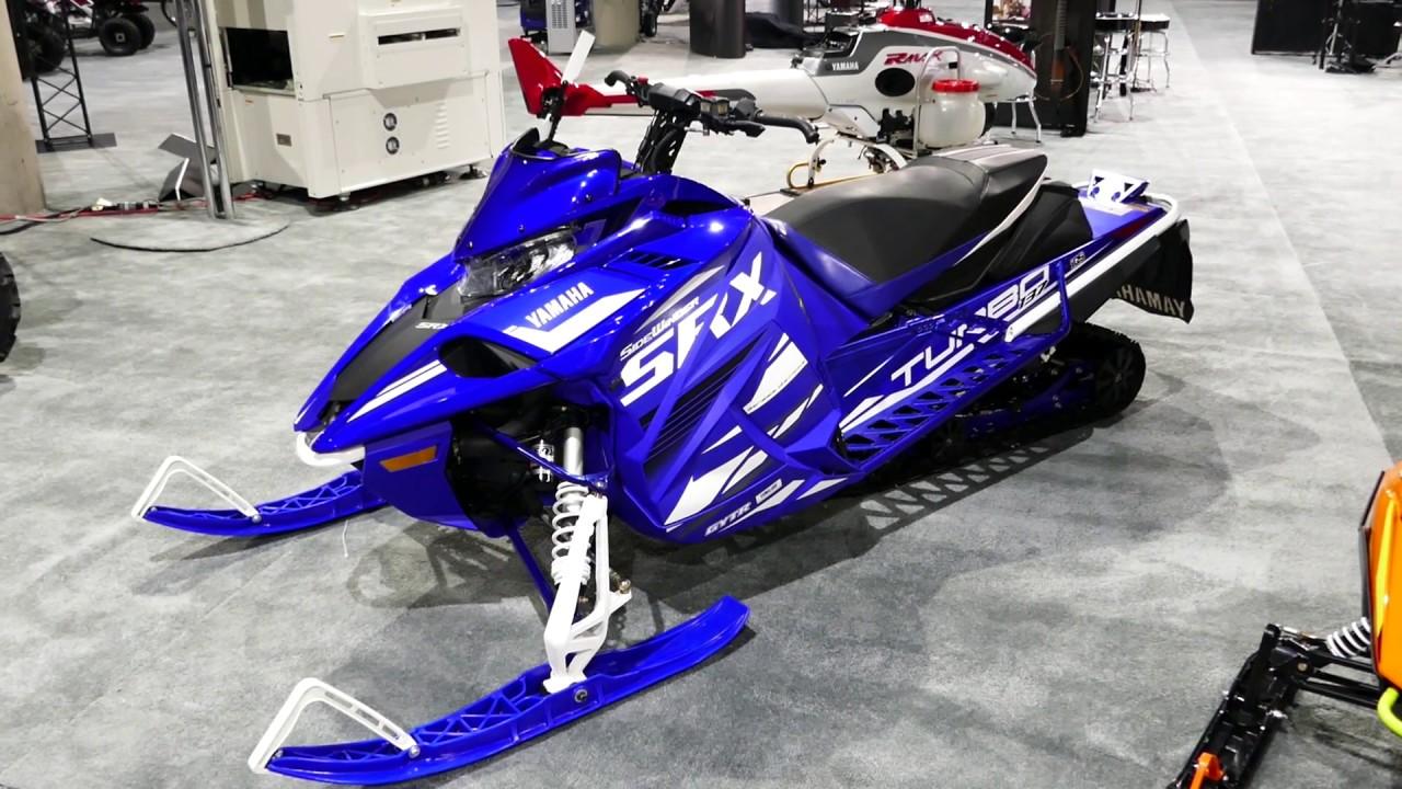 Yamaha SideWinder SRX GYTR Genesis 4 Stroke - Turbo Snowmobile - 2018 LA  Auto Show
