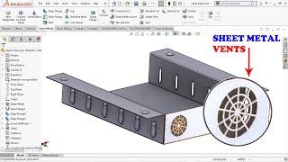 ✅ Solidworks Sheet metal Vents Feature Tutorial - Flow Area