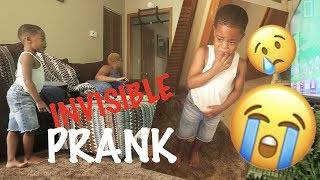 Invisible Prank On 3 Year Old ( HE CRIED )