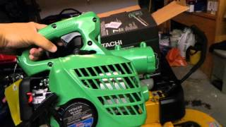 HITACHI RB24EAP BLOWER UNBOXING AND REVIEW